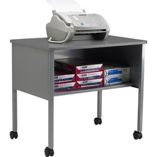 MLN 2140CAGRYGRY Mayline One Shelf Mobile Machine Stand MLN2140CAGRYGRY