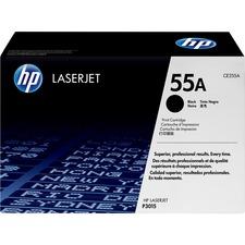 HP 55A (CE255A) Original Toner Cartridge - Single Pack - Laser - 6000 Pages - Black - 1 Each
