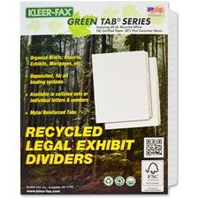 KLF 81199 Kleer-Fax Blank Side Tab Index Dividers KLF81199