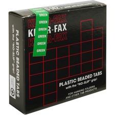 KLF KLE01423 Kleer-Fax 1/5 Cut Hanging Folder Tabs KLFKLE01423