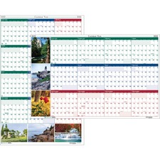 HOD 3931 Doolittle Earthscapes Scenic Wipe-off Wall Planner HOD3931