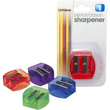 OIC 30230 Officemate Dual-purpose Pencil & Crayon Sharpener OIC30230