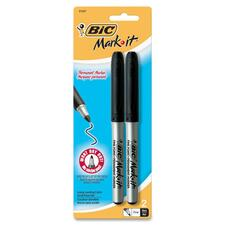 BIC GPMP21BK Bic Mark-it Grip Permanent Markers BICGPMP21BK