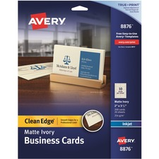 AVE 8876 Avery Clean Edge Custom 2-Sided Business Cards AVE8876