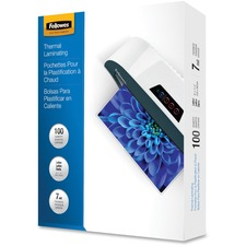 Fellowes Glossy Pouches - Letter, 7 mil, 100 pack