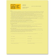 XER 3R12437 Xerox Bold Digital Canary Carbonless Paper XER3R12437
