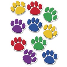 TCR 4114 Teacher Created Res. Color Paw Prints Accents TCR4114