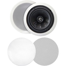 BIC America MSR-PRO6 125 W RMS Speaker - 2-way - White