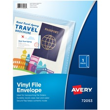 AVE 72053 Avery Vinyl File Envelope AVE72053