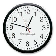 "LEO 76820 Charles Leonard 12"" Quartz Wall Clock LEO76820"