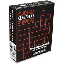 KLF 02431 Kleer-Fax Plastic 1/3 Cut Hanging Folder Tabs KLF02431