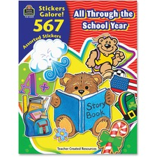 TCR 4229 Teacher Created Res. School Year Stickers Book TCR4229