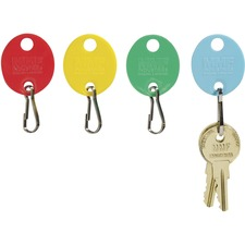 MMF 2018009W47 MMF Industries Snap Hook Colored Oval Key Tags MMF2018009W47