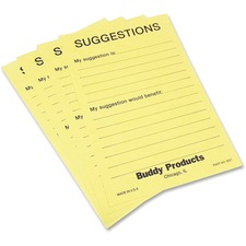 BDY 5621 Buddy Preprinted Suggestion Cards BDY5621