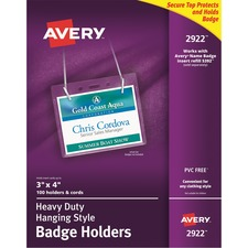 AVE 2922 Avery Landscape Photo ID System Badge Holders AVE2922