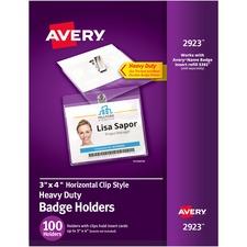 AVE 2923 Avery Heavy Duty Name Badge Holders AVE2923