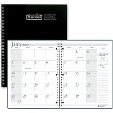 HOD 26302 Doolittle Black Cover Academic Monthly Planner HOD26302