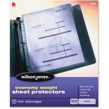 WLJ 21421 Acco/Wilson Jones Economy Clear Sheet Protectors WLJ21421