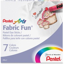 PEN PTS7 Pentel Arts Fabric Fun Pastel Dye Sticks PENPTS7
