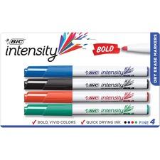 BIC DECFP41ASST Bic Bold Dry-erase Markers BICDECFP41ASST