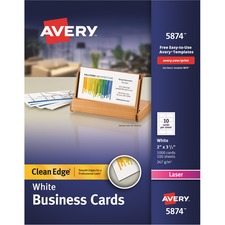 AVE 5874 Avery Laser Print 2-Sided Business Cards AVE5874
