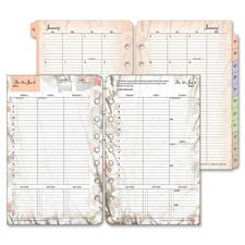 FDP 35448 Franklin Blooms Dated Wkly/Mthly Planner Refill FDP35448