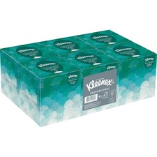 Kleenex Boutique Facial Tissue - 2 Ply - White - Fiber - Soft - For Restroom - 95 Sheets Per Box - 6 / Pack