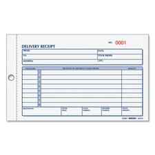 RED 6L615 Rediform Carbonless Delivery Receipt Books RED6L615