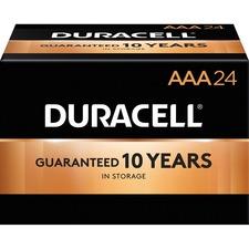 DUR MN2400BKD Duracell CopperTop Alkaline AAA Batteries DURMN2400BKD