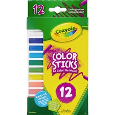 CYO 682312 Crayola 12 Color Sticks Woodless Colored Pencils CYO682312