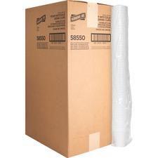 Genuine Joe Hot/Cold Foam Cups - 8 fl oz - 1000 / Carton - White - Foam - Hot Drink, Cold Drink