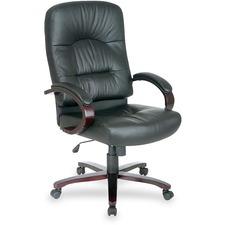 LLR 60338 Lorell Woodbridge Series Executive High-Back Chair LLR60338