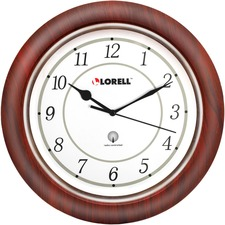 "LLR 60986 Lorell 13-1/4"" Round Wood Wall Clock LLR60986"