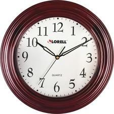 "LLR 60988 Lorell 13-1/4"" Woodgrain Wall Clock LLR60988"