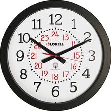 """LLR 60993 Lorell 14"""" Round Radio Controlled Wall Clock LLR60993"""