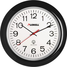 "LLR 60994 Lorell 13-1/4"" Radio Controlled Wall Clock LLR60994"