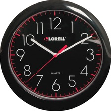 "LLR 60995 Lorell 10"" Quartz Black Face Wall Clock LLR60995"