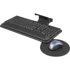 SAF 2135BL Safco Swivel Mouse Tray Adj. Keyboard Platform SAF2135BL