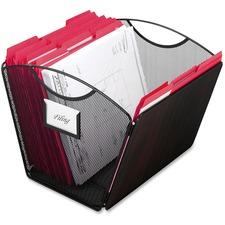 SAF 2162BL Safco Onyx Mesh Desktop Tub File SAF2162BL