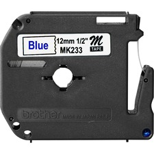 BRT MK233 Brother P-touch Nonlaminated M Srs Tape Cartridge BRTMK233