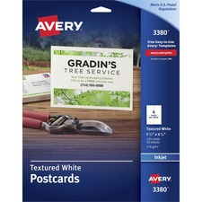 AVE 03380 Avery Textured Post Cards AVE03380