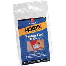 CRD 21500CB Cardinal HOLDit! Business Card Pockets CRD21500CB