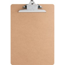 "Business Source Hardboard Clipboard - 9"" x 12 1/2"" - Hardboard - Brown - 1 Each"