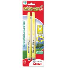 PEN SXS15BP2G Pentel Handy-line Retractable S-Highlighters PENSXS15BP2G