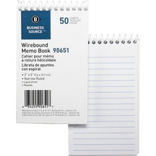 Business Source Steno Pad - 3 x 5 - 40 page