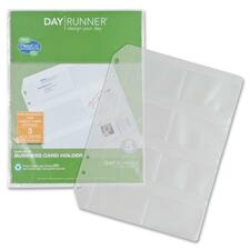 DRN 048101 Day Runner Eight Top-loading Planner Card Slots DRN048101