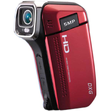 "DXG QuickShots DXG-5B6V Digital Camcorder - 2.4"" LCD - CMOS - HD - Red"