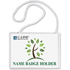 CLI 97043 C-Line Poly Name Badge Holders Kit  CLI97043