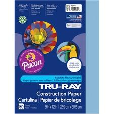 "Tru-Ray Sulphite Construction Paper - 12\"" x 9\"" - Sky Blue"