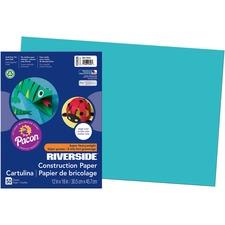 "Riverside Construction Paper - Art Classes - 18"" x 12"" - 50 / Pack - Green"
